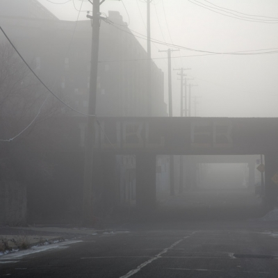 A foggy morning in Detroit